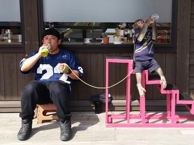 猿まわし 福(ふく)&真八(しんぱち)