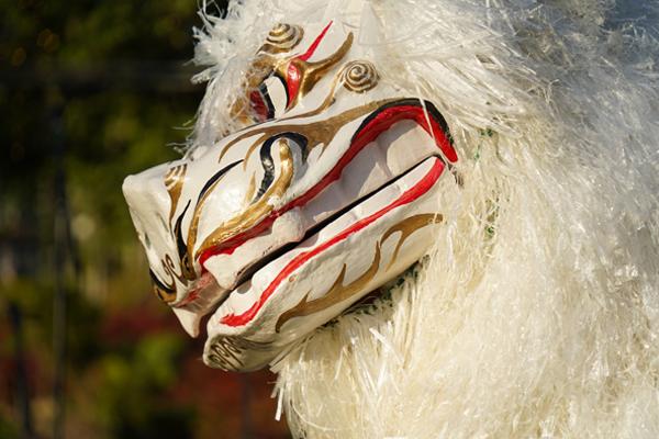 創作獅子舞のパフォーマンス